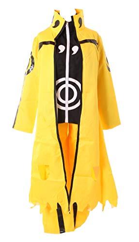 Kawaii-Story MN-93 Naruto Kyuubi Gelb Mantel Jacke Hose Set Cosplay Kostüm Anzug Anime Manga (M)