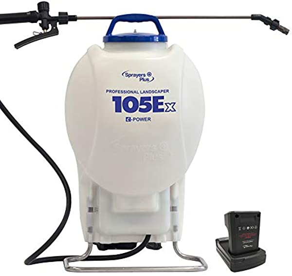 105Ex Effortless Backpack Sprayer 20V Lithium Long Battery Life With High Grade Seals O Ring Brass Wand Nozzle