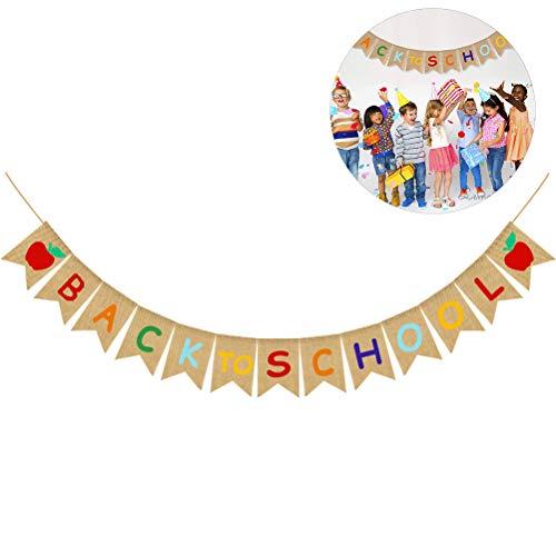 Banner Banner Banner Sackleine - Welkom Banner Party Decoraties - Eerste schooldag banner - klaslokaal kantoor school hangende decoratieve tekens - leraar banner