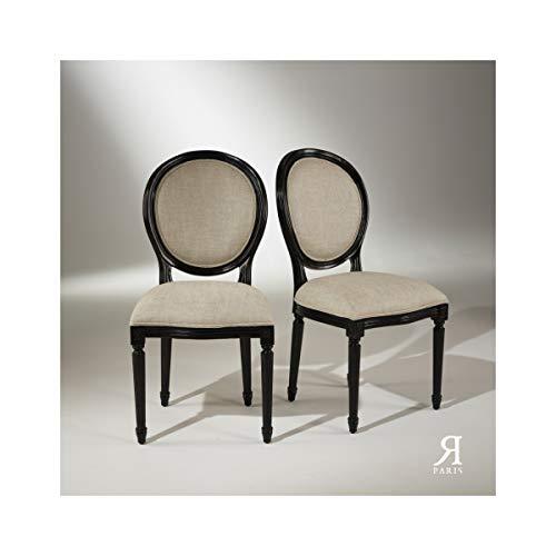 Robin des bois - Chaises Médaillon Noires, Lot de 2, Soit 224,5 Euros la Chaise