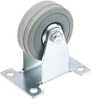 Draper 65477 70 kg 75 mm diameter S.W.L vaste plaat bevestiging rubberen wiel door Draper