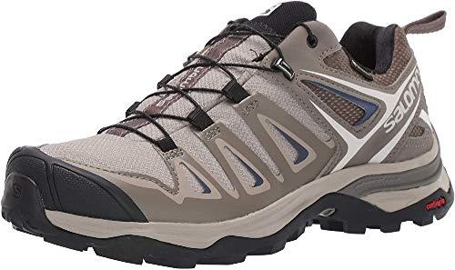 Salomon Women's X Ultra 3 GTX Hiking Shoes, Vintage Kaki/Bungee Cord/Crown Blue, 5