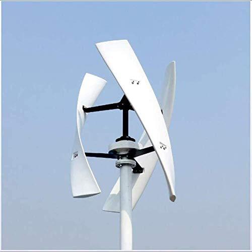 TQ 300W 12V 24V Spiral Wind Turbine Generator Red/White VAWT Vertical Axis Residential Energy,12v