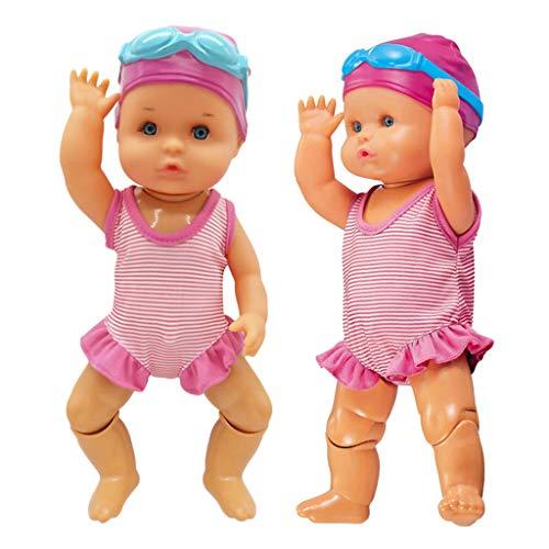 freneci Juego de 2 Muñecas de Natación RC para Niños en Edad Preescolar, Juego de Aprendizaje Temprano, 20x15x7cm