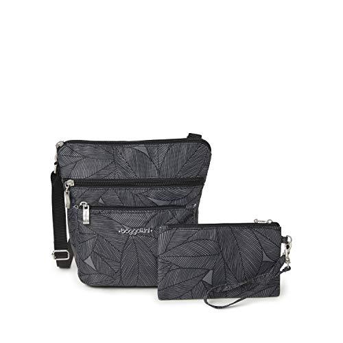 Baggallini - Bolsa transversal con correa de pulsera y protección RFID, Multi color, talla única