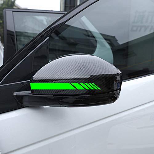 Autodomy Rückspiegel Aufkleber Auto mit Streifen Design Stripes Packet mit 6 Einheiten mit unterschiedlichen Breiten für das Auto (Neon Grün)