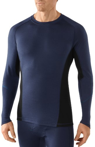 Smartwool NTS 195 Crew T-Shirt à Manches Longues pour Homme, Homme, Langarmshirt Lightweight Crew, Bleu foncé, M