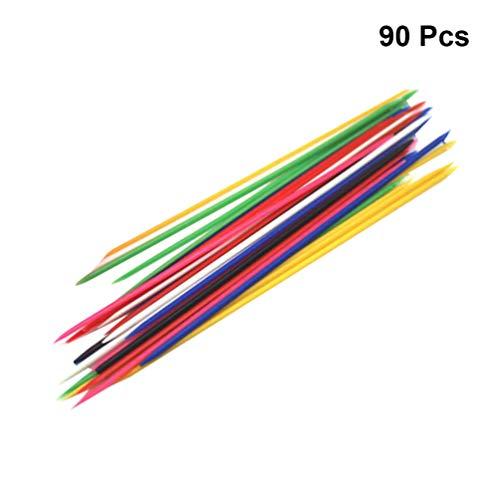 TOYANDONA 90 Piezas Juegos De Mikado Pick Up Sticks De Plástico Palos De Recogida Clásicos para Divertidos Juegos De Familia