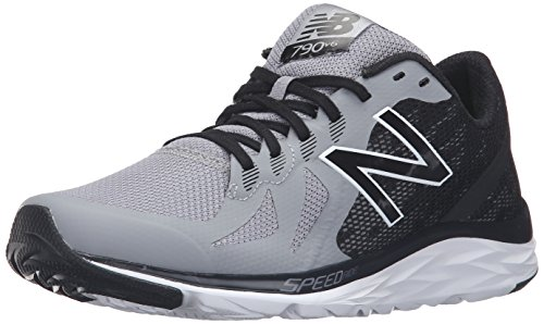 New Balance Men's 790v6 Speed Ride Running Shoe, Steel/Black, 8 D US