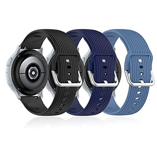 Cinturini di ricambio compatible con Samsung Galaxy Watch Active / Active 2 e Watch 3 40mm 41MM 42mm 44mm, Gear S2 Classic / Gear Sports (Smart Watch Lugs Width-20mm)