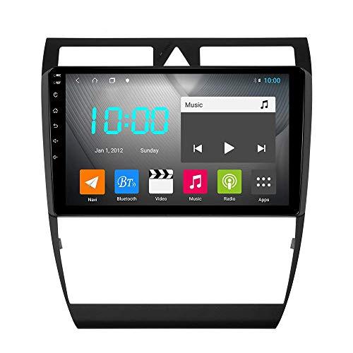 JALAL Android 9.0 Navegación GPS para automóvil Unidad Principal RDS Reproductor Multimedia estéreo Radio con Vista General de 360 ° en Marcha atrás, para A6 S6 RS6 1997-2004, S3