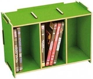 Werkhaus Caja para CD (apilable), color verde