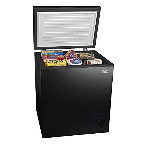 5 cu ft Chest Freezer for Your House, Garage, Basement, Apartment, Kitchen, Cabin,...