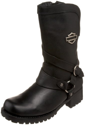 Harley-Davidson Women's Amber Water Resistant Motorcycle Boot ,Black,9.5 M US