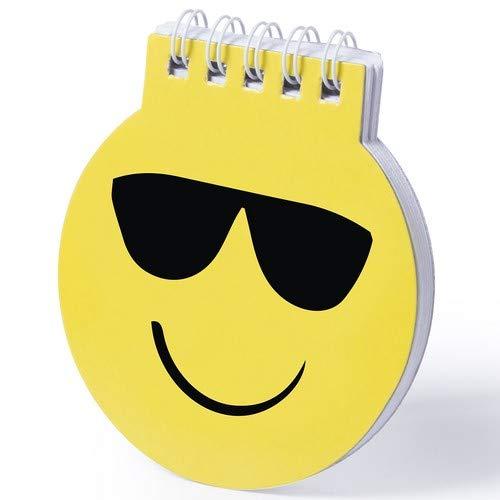 DISOK - Taccuino Emoji Emoji – Taccuino con divertenti disegni Emoji in accattivanti colore giallo – con anelli bianchi, copertina in cartone rigido con finitura lucida e 40 fogli lisci.