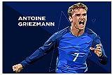 Luck7 Leinwand Druck Poster Antoine Griezmann Fußball