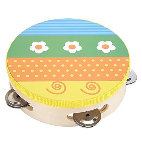 Pandereta para Bebé, Color Brillante Suave de Mano Pandereta Juguete 6 Pulgadas Musical Intermitente Pandereta Instrumento de Percusión Portátil para Niños