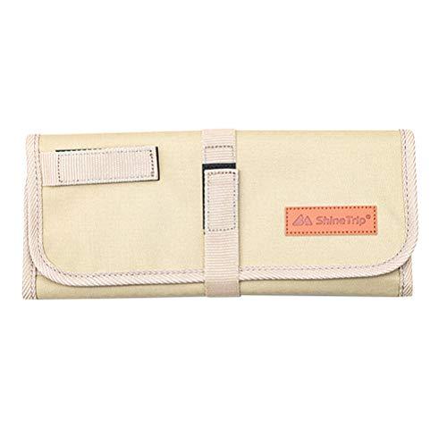 Abaodam Vajilla portátil que lleva el bolso de los utensilios del almacenamiento de la bolsa de picnic del envase de la