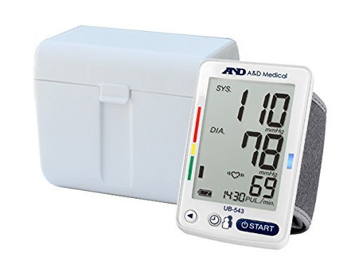 A&D Medical Wrist Blood Pressure Monitor for 2 Users (UB-543)