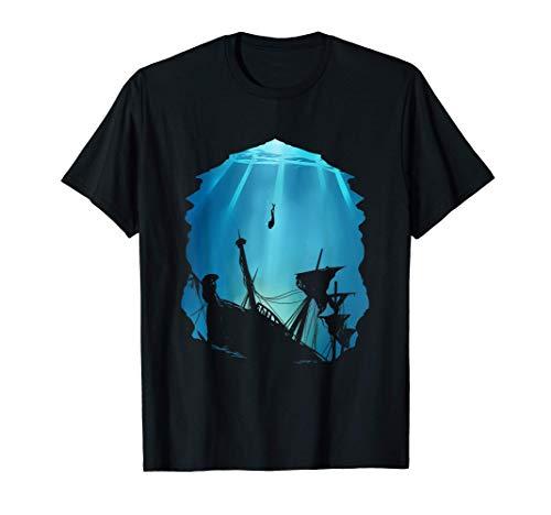 Wrack Taucher Geschenk für Schiffswrack Tauchausflug T-Shirt