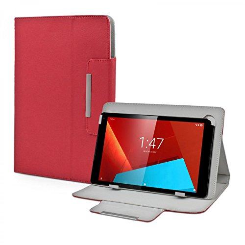 eFabrik Case Vodafone Tab Prime 7 (10.1 ') Tablet Custodia Cover Caso Casi Sacchetto di Protezione Folio Finta Pelle Rosso