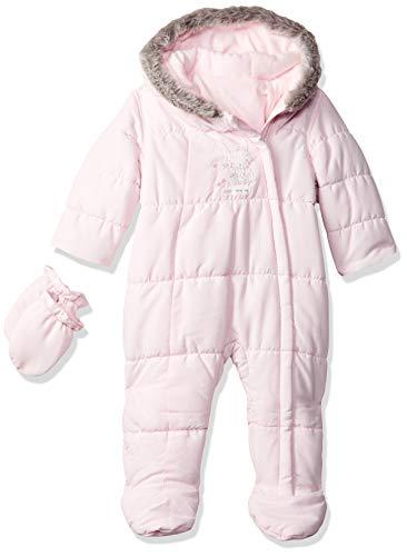Mothercare Graphic Snowsuit Fleece Traje para Nieve, Rosa (Rosa pálido), Recién Nacido para Bebés