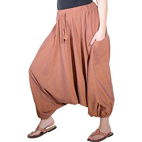 KUNST UND MAGIE Orientalische Haremshose one Size in vielen Farben, Farbe:Lachs