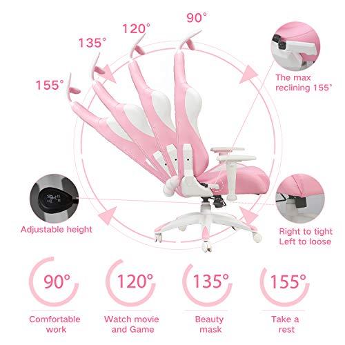 AutoFull Pink Gaming Stuhl für Mädchen Bild 4*