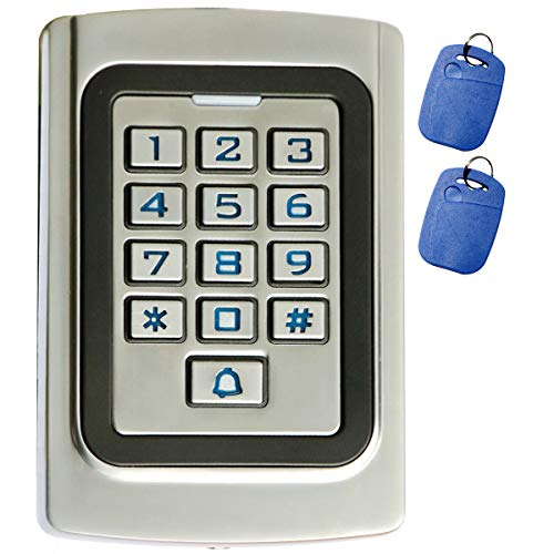 Supreform IP68 Waterproof Universal 12V 24VDC Metal Case Digital Wired Keypad for Garage Door, Gate Opener and Access Control Systems, Code or ID Card Access