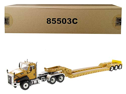 Diecast Masters Cat Caterpillar CT660 Day Cab with XL 120 Low-Profile HDG Lowboy Trailer and Operator Core Classics Series 1/50 Diecast Model
