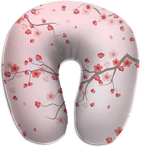 Almohada de Espuma viscoelástica para el Cuello, diseño japonés, Fl