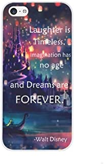 iPhone 8 Plus / 7 Plus Compatible, Laughter is timeless, imagination has no age and dreams are forever - snap on Case Cover for Apple iPhone