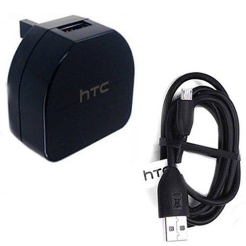 HTC TC B270 Mains UK AC Adapter with Black Micro USB Cable for Desire, Sensation, Sensation xl