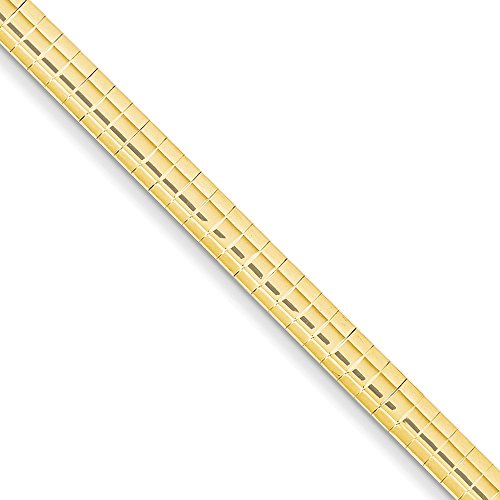 14k Yellow Gold 4mm Domed Omega Bracelet 7 Inch Cubetto Fine Jewellery For Women Gifts For Her