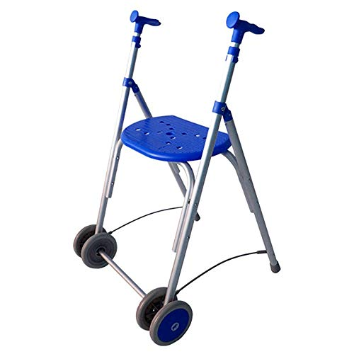 Andador Rollator | De aluminio | Plegable | Regulable en altura | Color azul