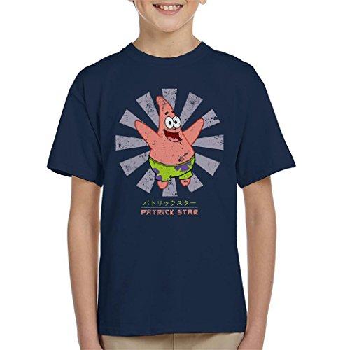 Patrick Star Retro Japanese Spongebob Squarepants Kid's T-Shirt