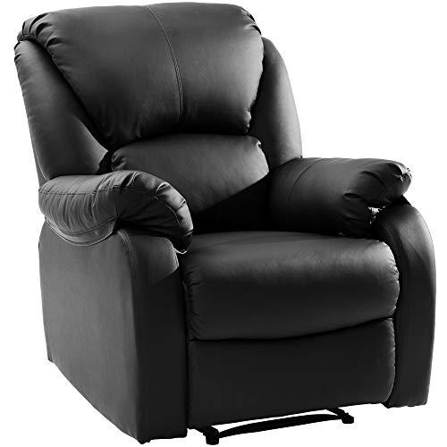 Fernsehsessel, Relaxsessel Liege Sessel Für Home Lounge Gaming Cinema High-Back Schwarz