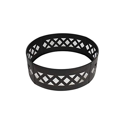 KENMMORE Campfire Metal Galvanized Fire Pit Ring Inserts 37 Inches Large Round for Outdoors/Camp/Backyard(Bronze