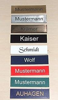 1 stuks deurbelbordje zelfklevend Made in Germany deurbord-naamplaatje-brievenbus met gravure