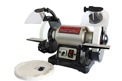 BUCKTOOL 8-Inch Bench Grinder Professional Power Tools Dual Speed Cast Iron Base TDS-200DS