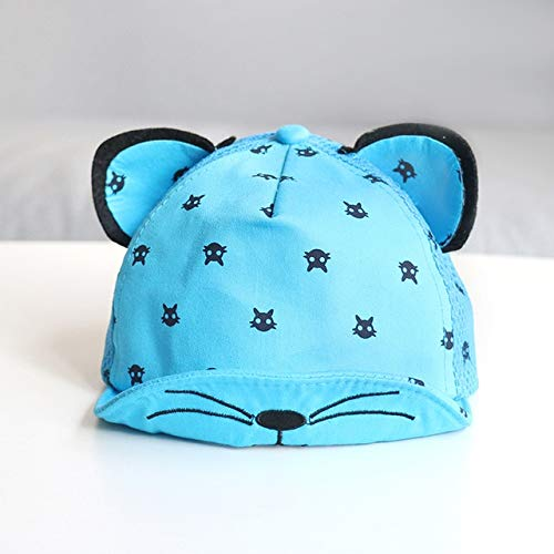 Cute Baby Boy Cap Embroidery Number Baby Baseball Cap Spring Summer Children Cotton Sun Hat Toddler Girl Outdoor Visor Hats-Blue style 4