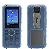 zCover CI821HJL Dock-in-Case Ruggedized Silicone Case with Universal Metal Belt Clip for Cisco 8821 Wireless IP Phone Blue