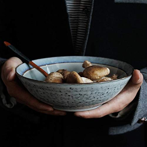 XUEXIU Porcelana Premium Ensalada Japonesa De Estilo Retro Cerámica Cuenco De Fruta Sopa Ramen Diámetro 7,4 Pulgadas for Catering and Home
