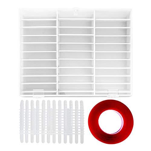 Boîte de conteneur en plastique organisateur Manicur Nail Art Box Nail Tips Storage Display Decoration Container Nail Display Box
