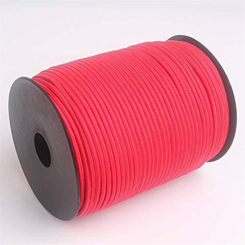 Cuerda de Paracord, Escalada cuerda del paracaídas que acampa cuerda de bricolaje de Cuerda línea de ropa de múltiples funciones de la cuerda 30 colores Más Paracord 3mm 100M