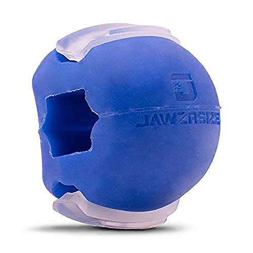 Jawzrsize Gesichts-Toner, Kiefer-Exerciser und Nackenstärkungsgerät (Anfänger - Groß, Blau)