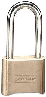 MASTERLOCK 175DLH Resettable Combination Padlock, Brass, 2
