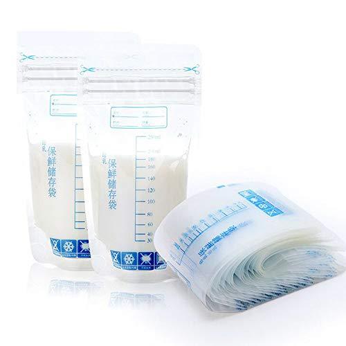 Fdit 30pcs Bolsas de Leche Materna Bolsa de Almacenamiento 250ML Limpio y Conveniente