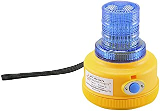 North American Signal PSLM4-B, Programmable Battery Operated LED Warning Light, Blue