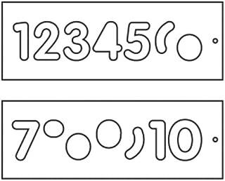 Trend TEMP/NUC/57 Number Template Set